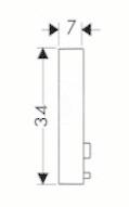 HANSGROHE - Příslušenství Podložka na vyrovnanie obkladov, chróm (28697000), fotografie 2/1