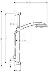 HANSGROHE - Raindance Classic Súprava ručnej sprchy 100 Air 3jet/nástennej tyče Unica'Classic 0,90 m, chróm (27841000), fotografie 4/2