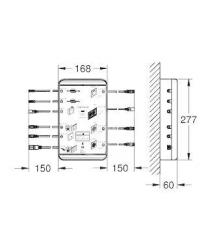"""GROHE - F-Digital Deluxe Základná jednotka 4.0 Bluetooth F-Series 40"""" (BCU V4.0) (26374000), fotografie 2/1"""