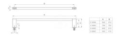 IDEAL STANDARD - Connect Držiak na uteráky 800 mm, chróm (E6983AA), fotografie 2/4