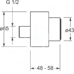 HANSA - Medipro Súprava ružíc a etážok, chróm (02720200), fotografie 2/1