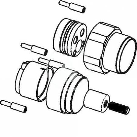 HANSA - Matrix Predlžovacia súprava 20 mm na pákovú batériu (59913591)