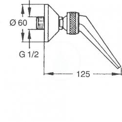 HANSA - Jet Prívalová sprcha, chróm (04400100), fotografie 4/2
