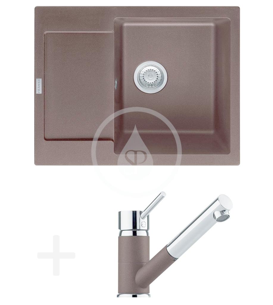 FRANKE FRANKE - Sety Kuchyňský set G70, granitový dřez MRG 611-62, tmavě hnědá + baterie FG 7486.070, tmavě hnědá (114.0365.258)