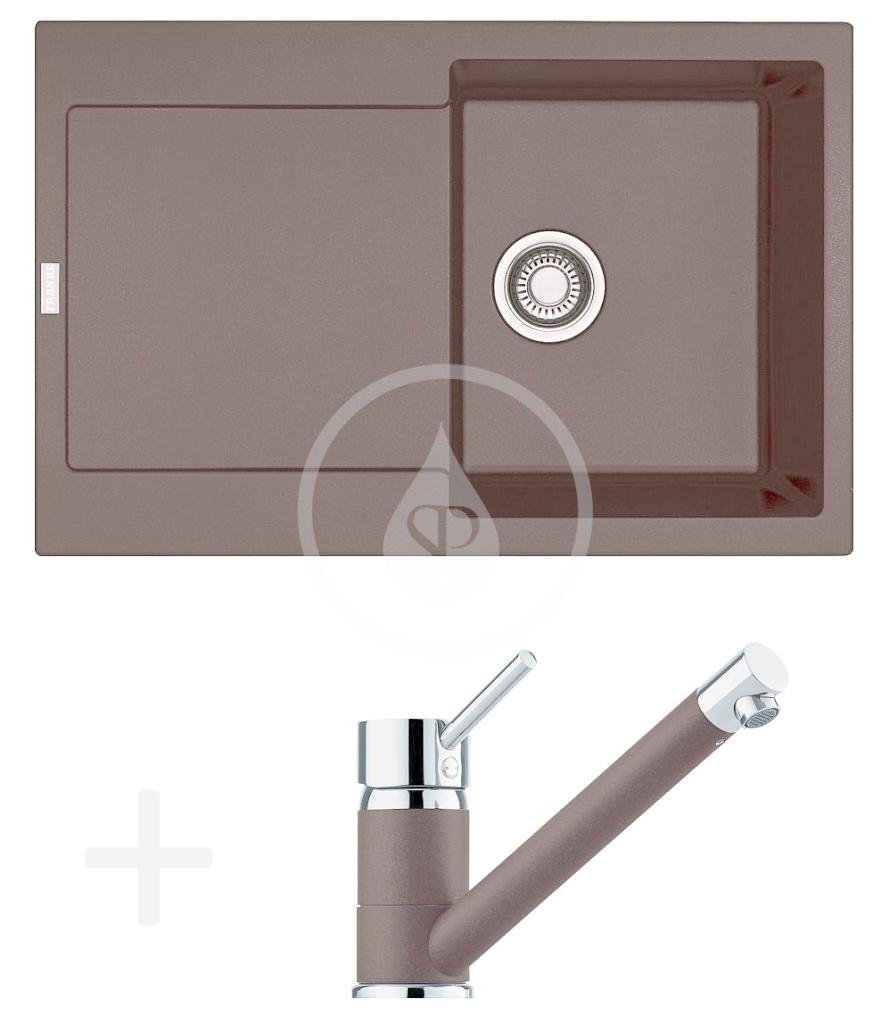 FRANKE FRANKE - Sety Kuchyňský set G71, granitový dřez MRG 611, tmavě hnědá + baterie FG 7477.070, tmavě hnědá (114.0365.278)
