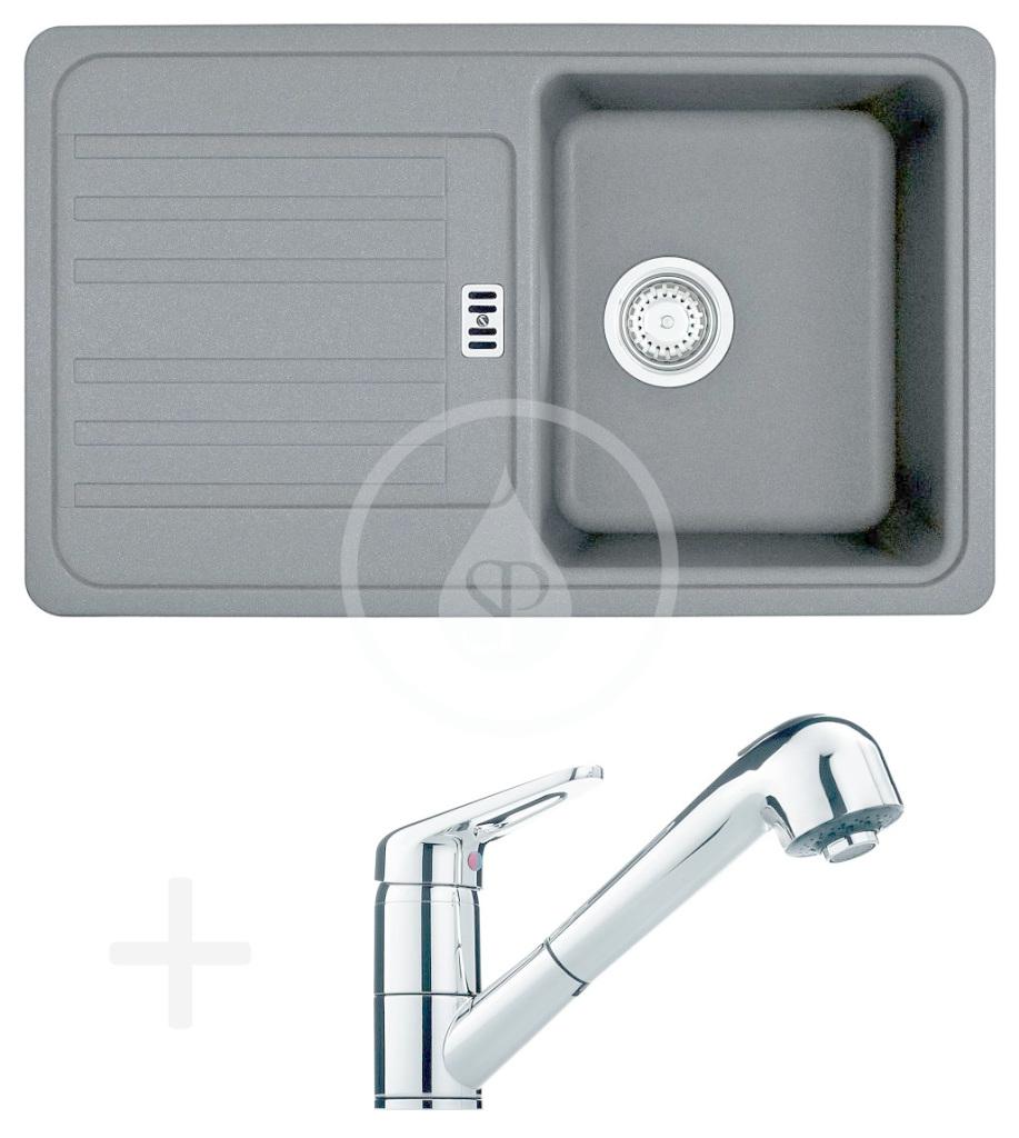 FRANKE FRANKE - Sety Kuchyňský set G18, granitový dřez EFG 614-78, grafit + baterie FC 9547.031, chrom (114.0120.401)