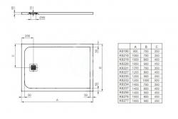 IDEAL STANDARD - Ultra Flat S Sprchová vanička 1000mmx700mm, čierna (K8218FV), fotografie 6/3