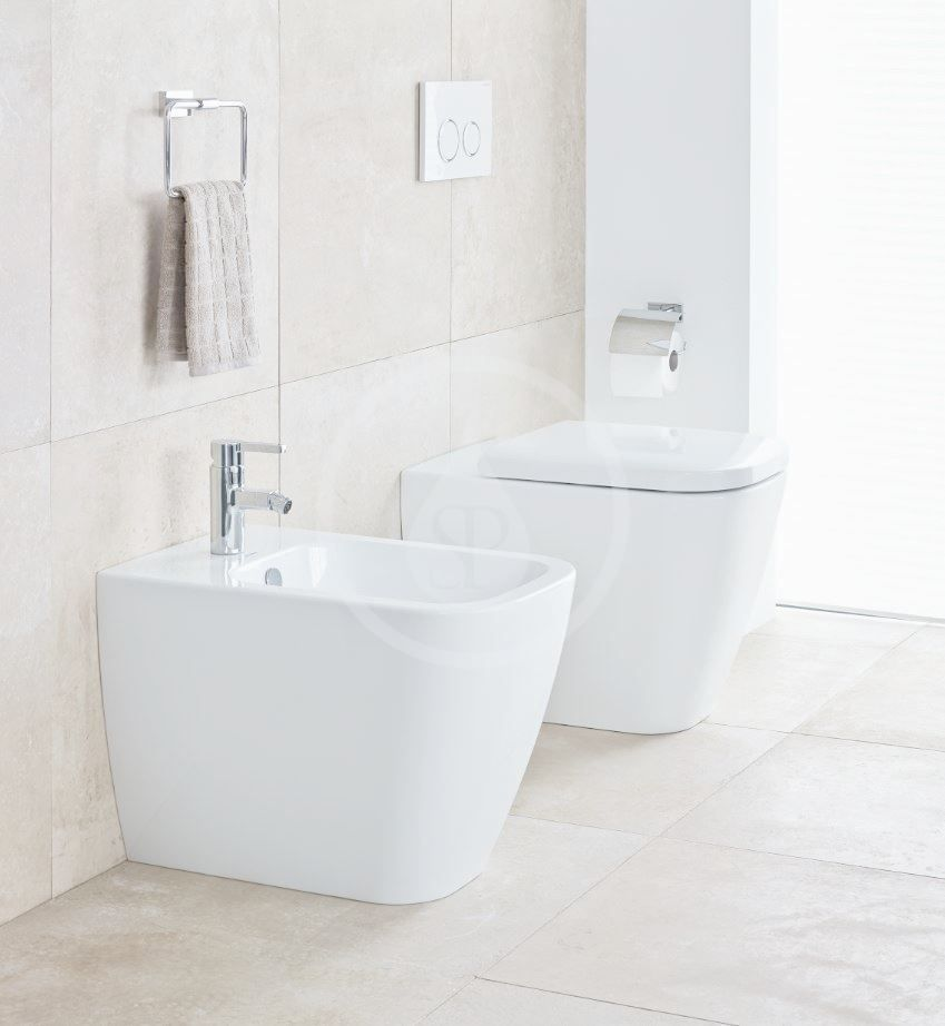 DURAVIT - Happy D.2 Stojace WC, zadný odpad, s HygieneGlaze, alpská biela (2159092000)
