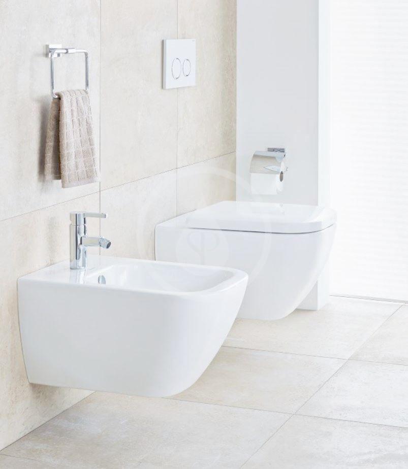 DURAVIT - Happy D.2 Závesné WC, Rimless, s HygieneGlaze, alpská biela (2550092000)