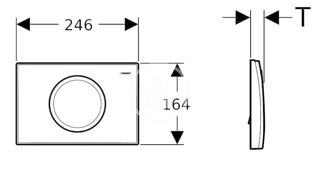 GEBERIT - Delta Ovládacie tlačidlo Delta 11, lesklý chróm (115.120.21.1)
