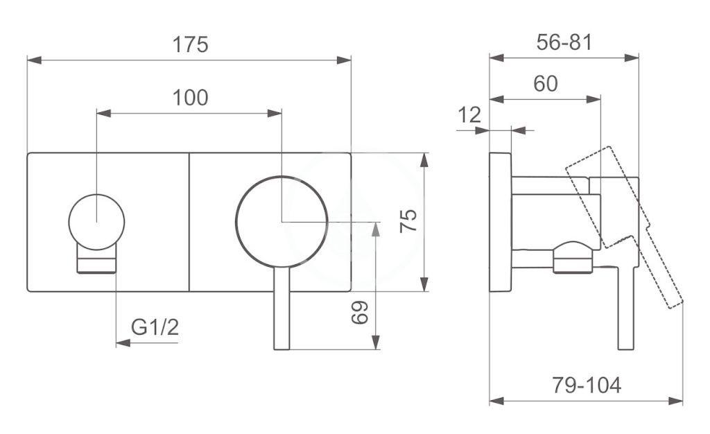 HANSA - Stela Sprchová batéria pod omietku, chróm (44569583)