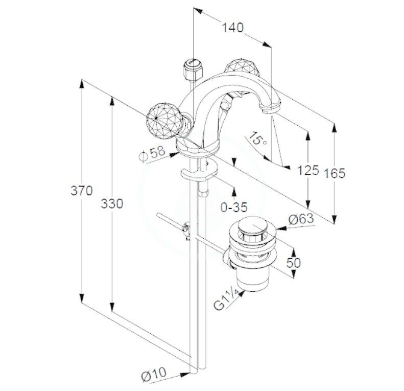 KLUDI - Adlon Umývadlová batéria s výpusťou, chróm (5101005G5)