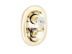 KLUDI - Adlon Termostatická sprchová batéria pod omietku, zlatá (5172045G4)