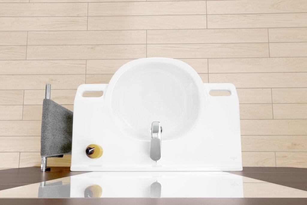 VILLEROY & BOCH - O.novo Umývadlo Vita 800x550 mm, bez prepadu, bez otvoru na batériu, AntiBac, CeramicPlus, alpská biela (412083T2)