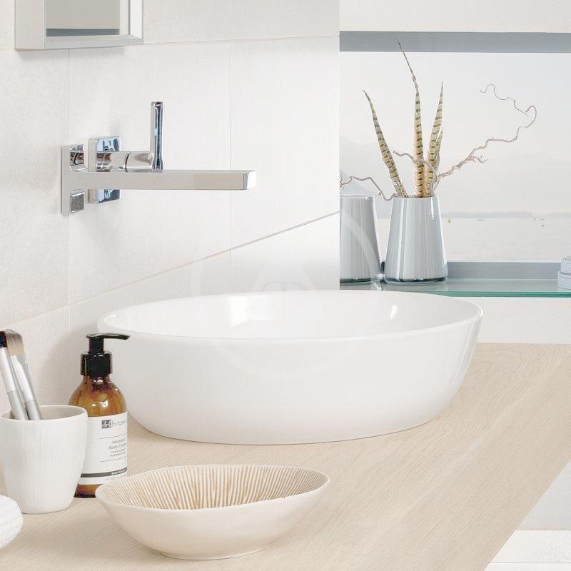 VILLEROY & BOCH - Artis Umývadlo na dosku, priemer 430 mm, CeramicPlus, Stone White (417943RW)