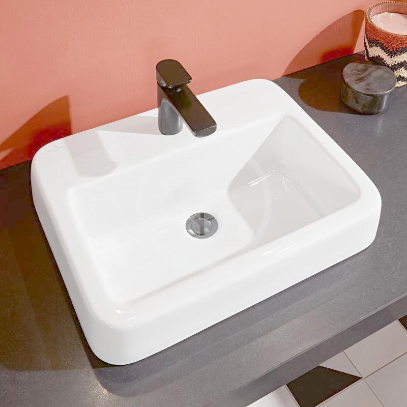 VILLEROY & BOCH - Architectura Umývadlo zápustné 550x430 mm, bez prepadu, otvor na batériu, CeramicPlus, alpská biela (419356R1)