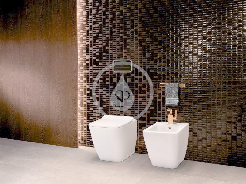 VILLEROY & BOCH - Venticello Stojace WC, Vario odpad, DirectFlush, CeramicPlus, Stone White (4613R0RW)