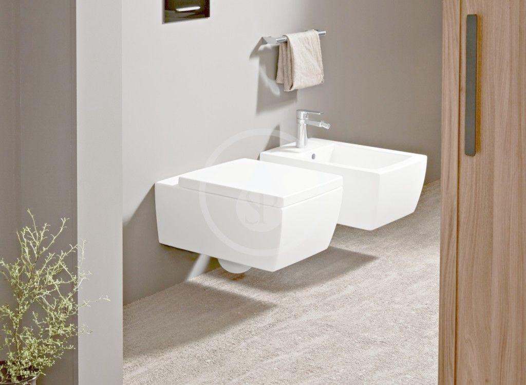 VILLEROY & BOCH - Memento 2.0 Závesné WC, zadný odpad, DirectFlush, CeramicPlus, Stone White (4633R0RW)