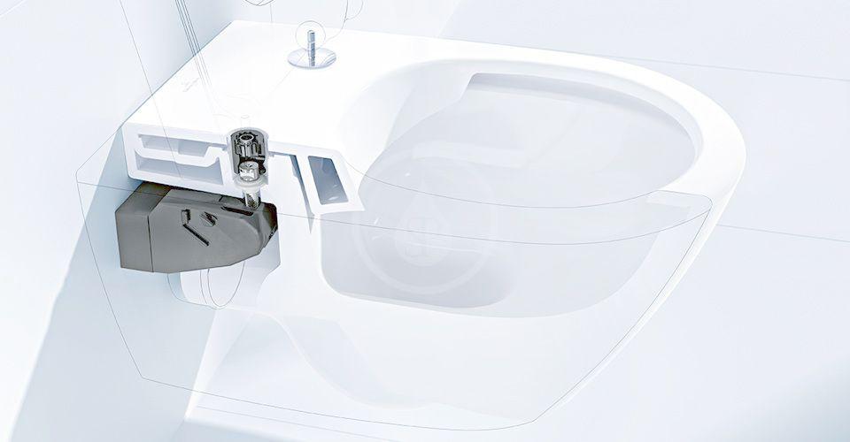VILLEROY & BOCH - Finion Závesné WC, DirectFlush, CeramicPlus, Stone White (4664R0RW)