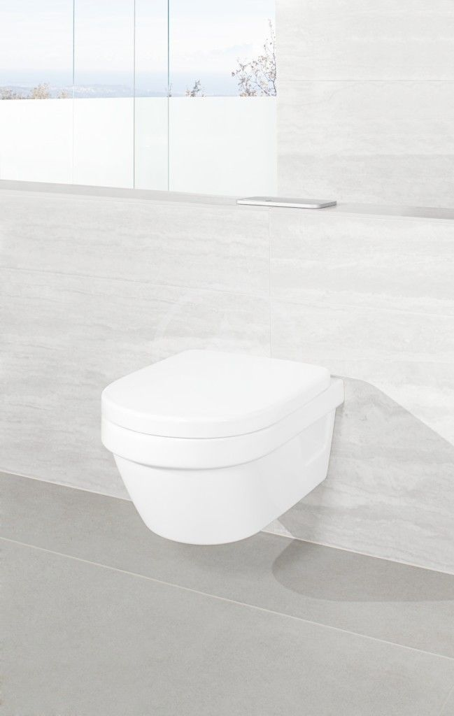 VILLEROY & BOCH - Architectura Závesné WC Compact, zadný odpad, DirectFlush, AntiBac, CeramicPlus, alpská biela (4687R0T2)