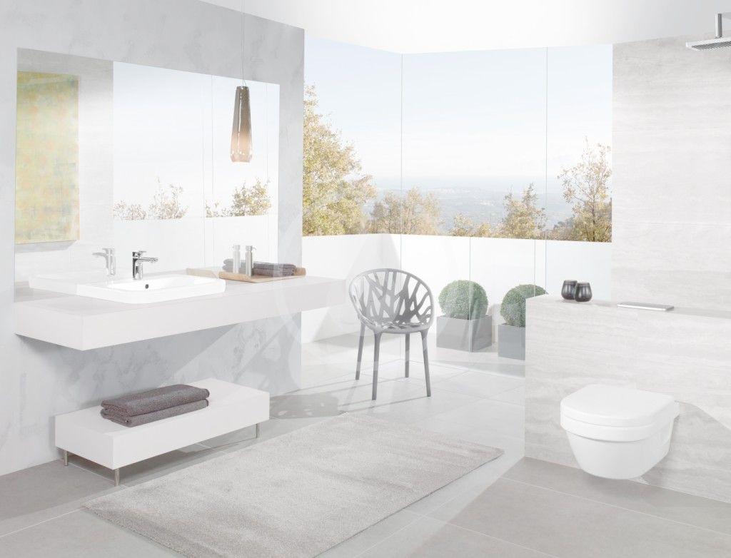 VILLEROY & BOCH - Architectura Závesné WC XL, zadný odpad, DirectFlush, AntiBac, CeramicPlus, alpská biela (4688R0T2)