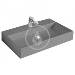 VILLEROY & BOCH - Memento Umývadlo 800x470 mm, bez prepadu, otvor na batériu, CeramicPlus, Glossy Black (51338GS0)