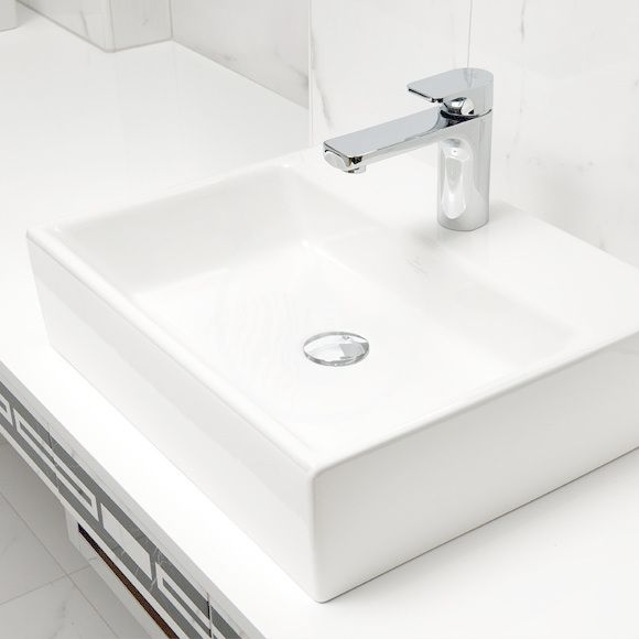 VILLEROY & BOCH - Memento Umývadlo na dosku, 500x420 mm, bez prepadu, otvor na batériu, alpská biela (51355101)