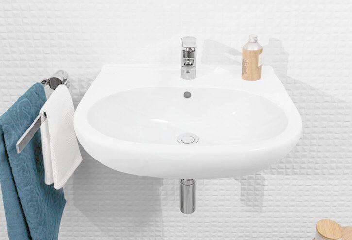 VILLEROY & BOCH - O.novo Umývadlo 600x490 mm, s prepadom, otvor na batériu, AntiBac, alpská biela (516060T1)