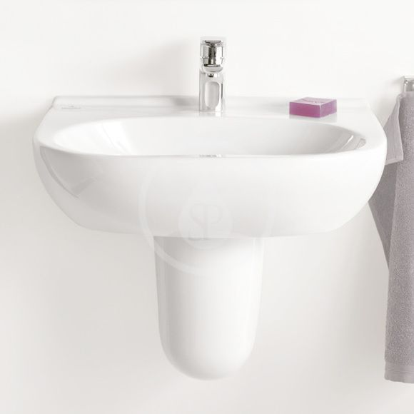 VILLEROY & BOCH - O.novo Umývadlo 650x510 mm, bez prepadu, otvoru na batériu, AntiBac, alpská biela (516066T1)