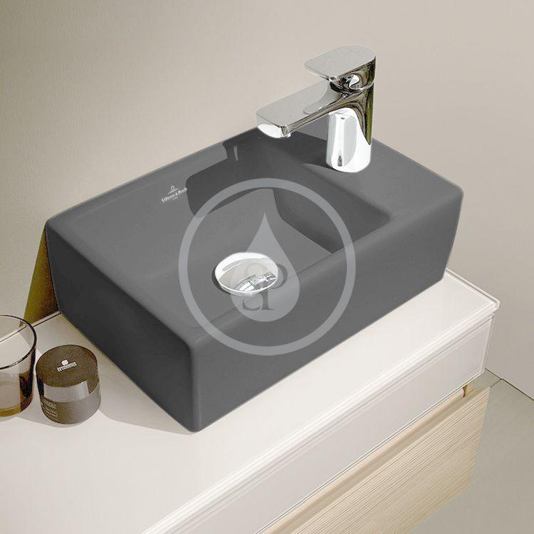 VILLEROY & BOCH - Memento Umývadielko nábytkové 400x260 mm, bez prepadu, 1 otvor na batériu, CeramicPlus, Glossy Black (53334GS0)