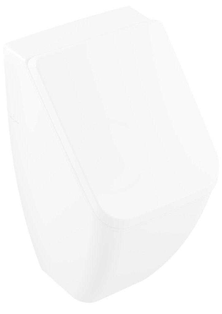VILLEROY & BOCH - Venticello Odsávací pisoár na poklop, skrytý prívod, DirectFlush, CeramicPlus, Stone White (5504R1RW)
