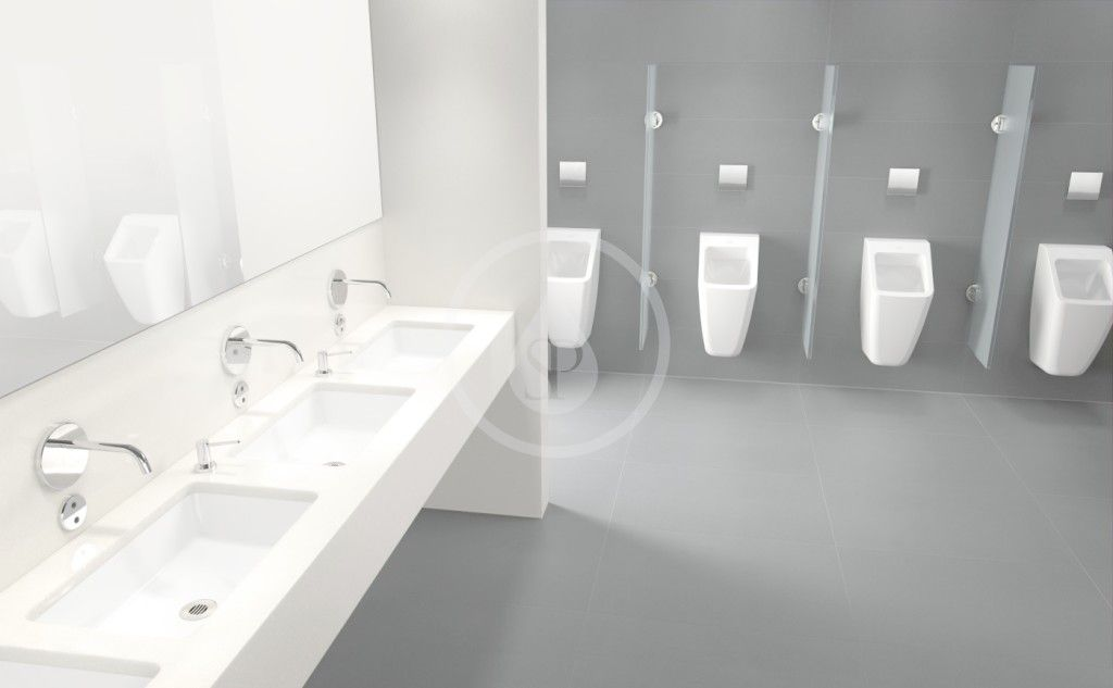 VILLEROY & BOCH - Architectura Odsávací pisoár, zadný prívod, AntiBac, alpská biela (558700T1)