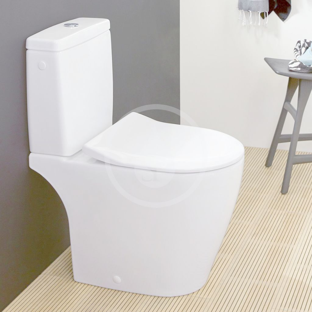 VILLEROY & BOCH - Avento WC kombi misa, DirectFlush, CeramicPlus, Stone White (5644R0RW)