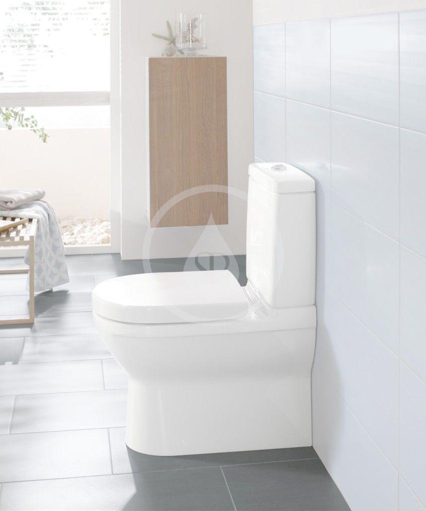 VILLEROY & BOCH - O.novo WC kombi misa, Vario odpad, AntiBac, alpská biela (565810T1)