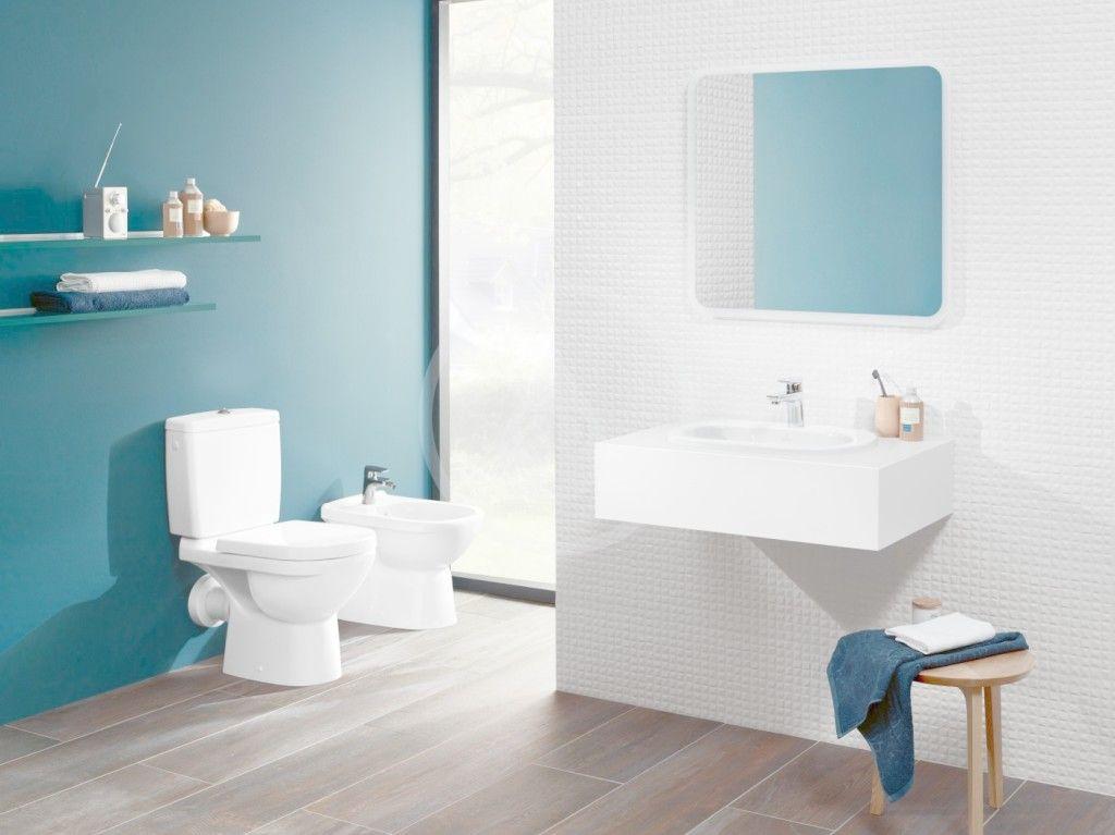 VILLEROY & BOCH - O.novo WC kombi misa, zadný odpad, DirectFlush, AntiBac, CeramicPlus, alpská biela (5661R0T2)