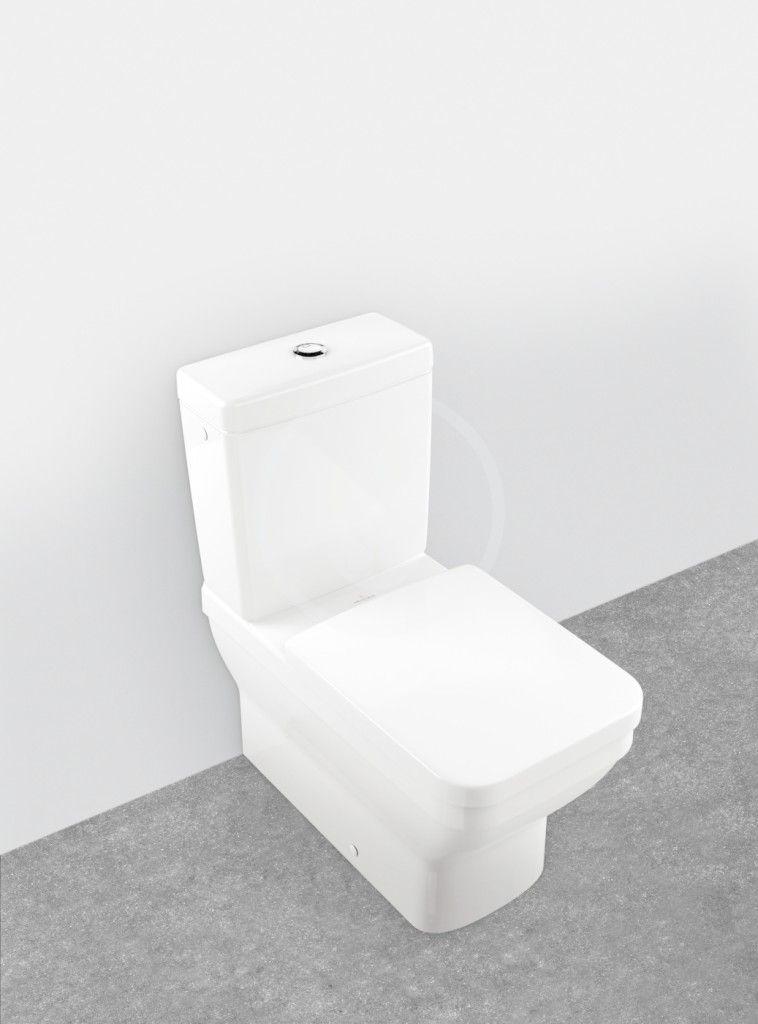 VILLEROY & BOCH - Architectura WC kombi misa, Vario odpad, AntiBac, alpská biela (568710T1)