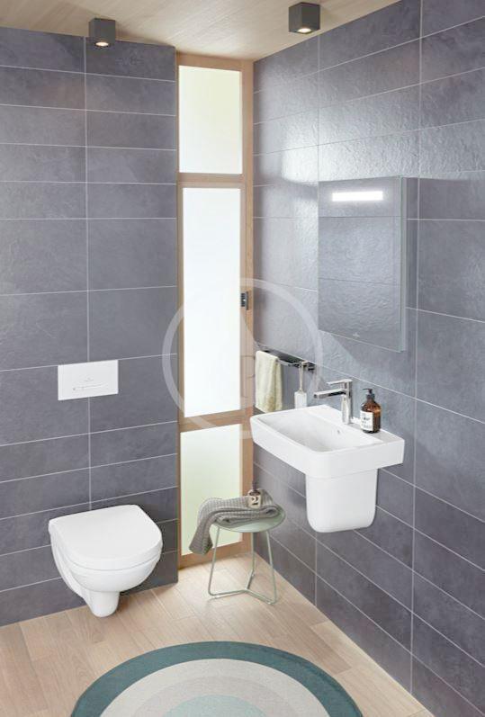VILLEROY & BOCH - O.novo Závesné WC Compact, AntiBac, alpská biela (568810T1)