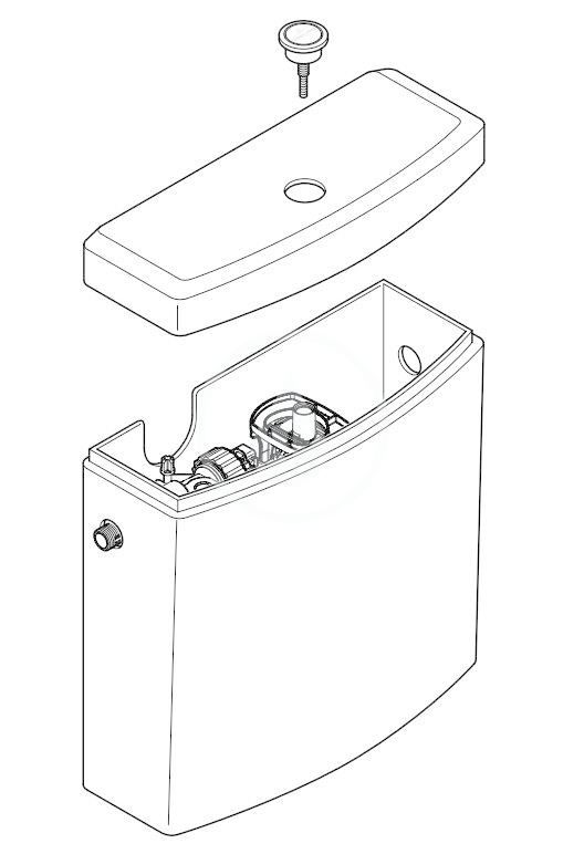 VILLEROY & BOCH - O.novo WC nádržka kombi, bočný prívod, alpská biela (5760S101)