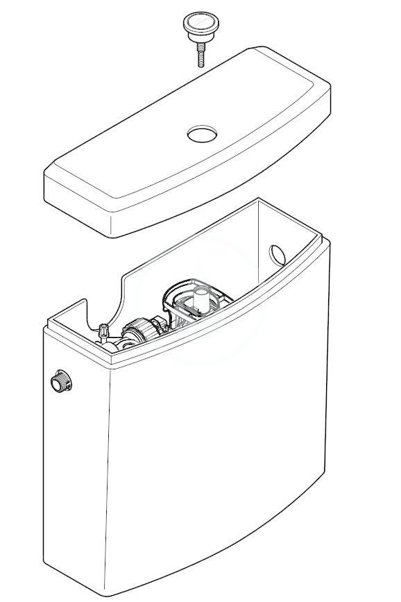 VILLEROY & BOCH - Architectura WC nádržka kombi, zadný/bočný prívod, CeramicPlus, alpská biela (5773G1R1)