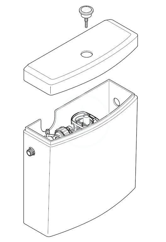 VILLEROY & BOCH - O.novo WC nádržka kombi, zadný/bočný prívod, CeramicPlus, alpská biela (5788S1R1)
