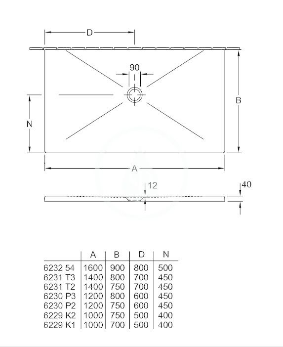 VILLEROY & BOCH - Subway Infinity Sprchová vanička, 750x1000 mm, Anti-slip, Ardoise (6229K2W9)