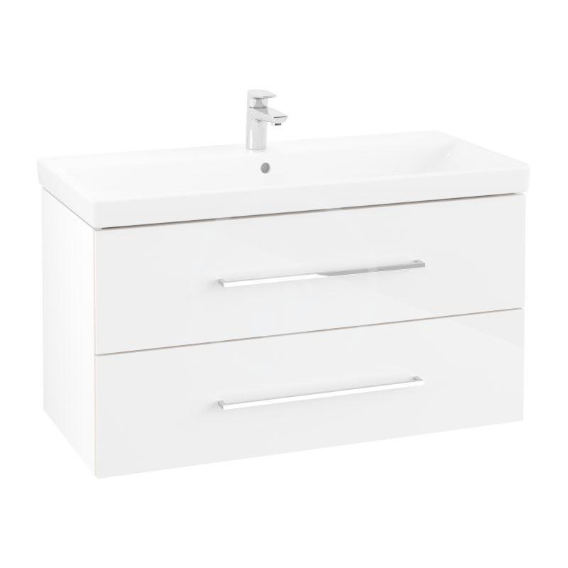 VILLEROY & BOCH - Avento Umývadlová skrinka, 980x514x452 mm, 2 zásuvky, Crystal White A89200B4