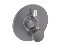 KLUDI - Balance Termostatická sprchová batéria pod omietku, čierna mat/chróm (528358775)