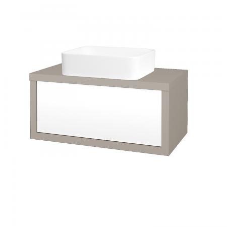 Dreja - Kúpeľňová skriňa STORM SZZ 80 (umývadlo Joy) - N07 Stone / L01 Bílá vysoký lesk (213176)