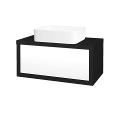 Dreja - Kúpeľňová skriňa STORM SZZ 80 (umývadlo Joy) - N08 Cosmo / L01 Bílá vysoký lesk (213183)