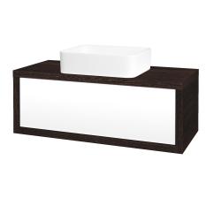 Dreja - Kúpeľňová skriňa STORM SZZ 100 (umývadlo Joy) - D08 Wenge / L01 Bílá vysoký lesk (213442)