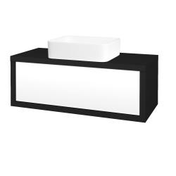 Dreja - Kúpeľňová skriňa STORM SZZ 100 (umývadlo Joy) - N08 Cosmo / L01 Bílá vysoký lesk (213565)