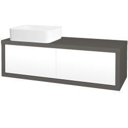 Dreja - Kúpeľňová skriňa STORM SZZ2 120 (umývadlo Joy) - N06 Lava / L01 Bílá vysoký lesk / Levé (213930)