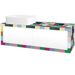 Dreja - Kúpeľňová skriňa STORM SZZ2 120 (umývadlo Joy) - IND Individual / L01 Bílá vysoký lesk / Pravé (214289P)