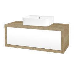 Dreja - Kúpeľňová skriňa STORM SZZ 100 (umývadlo JOY 3) - D09 Arlington / L01 Bílá vysoký lesk (218133)